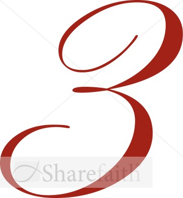 360x388 Fancy Numbers Clipart