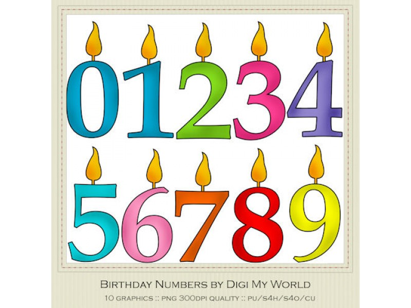 800x600 Free Birthday Numbers Clipart