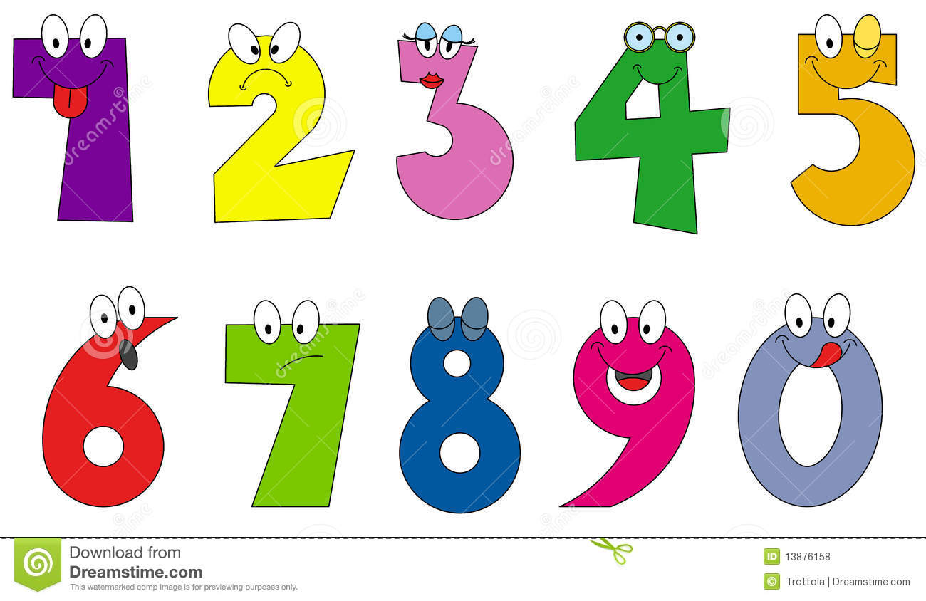 1300x844 Funny Numbers Clipart