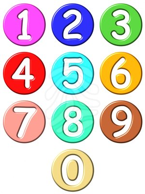 300x400 Numbers Clipart