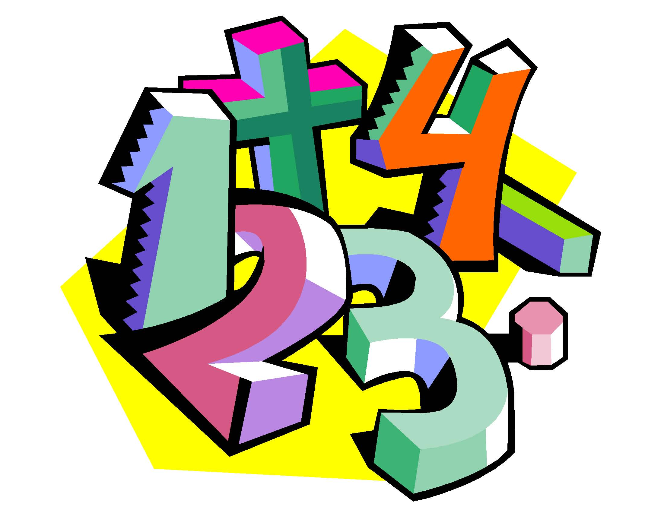 2201x1701 Numbers Math Cliparts 239716