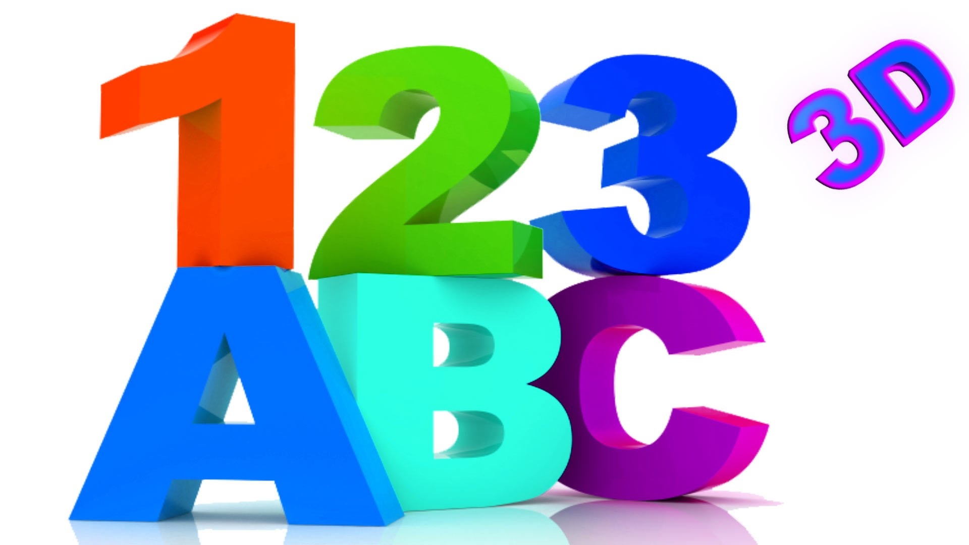 1920x1080 Abc Song And Numbers Songs Collection 3d Learn Abc And Numbers