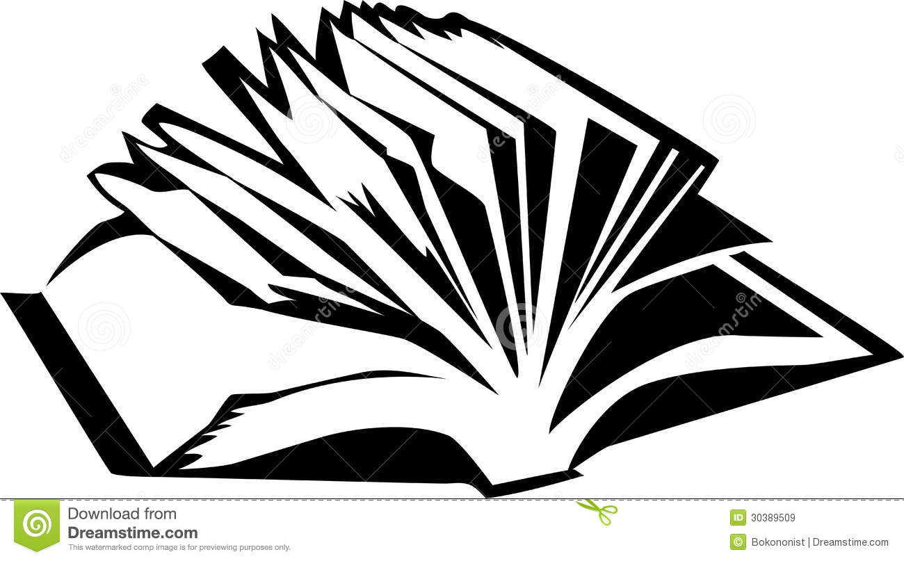 1300x807 open book black and white clipart