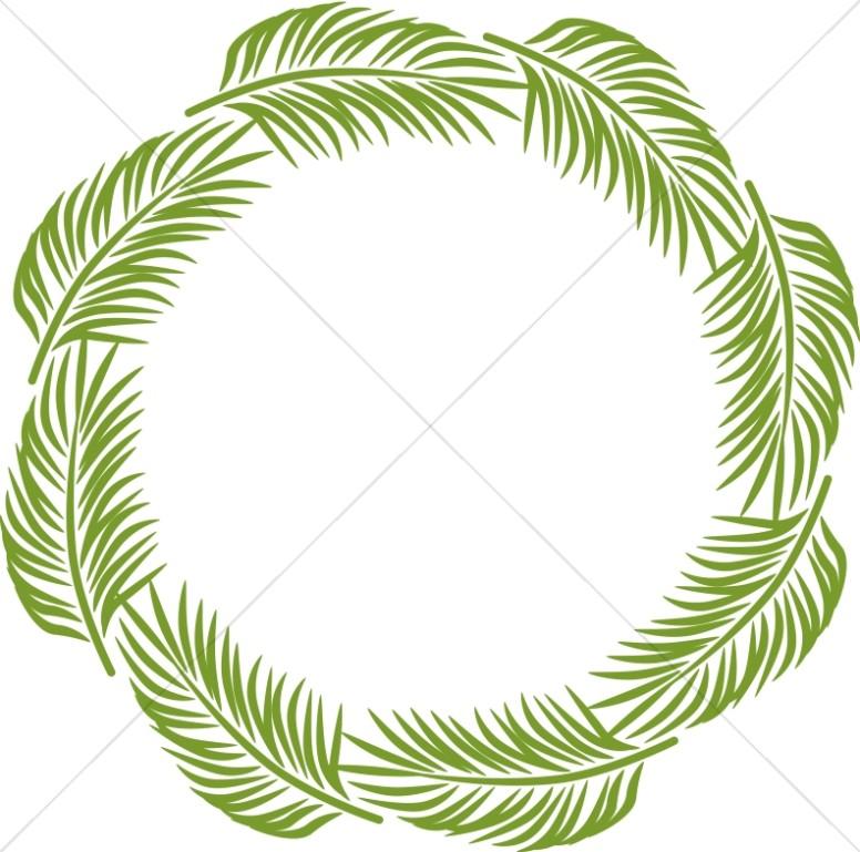 776x769 Palm Circle Palm Sunday Clipart