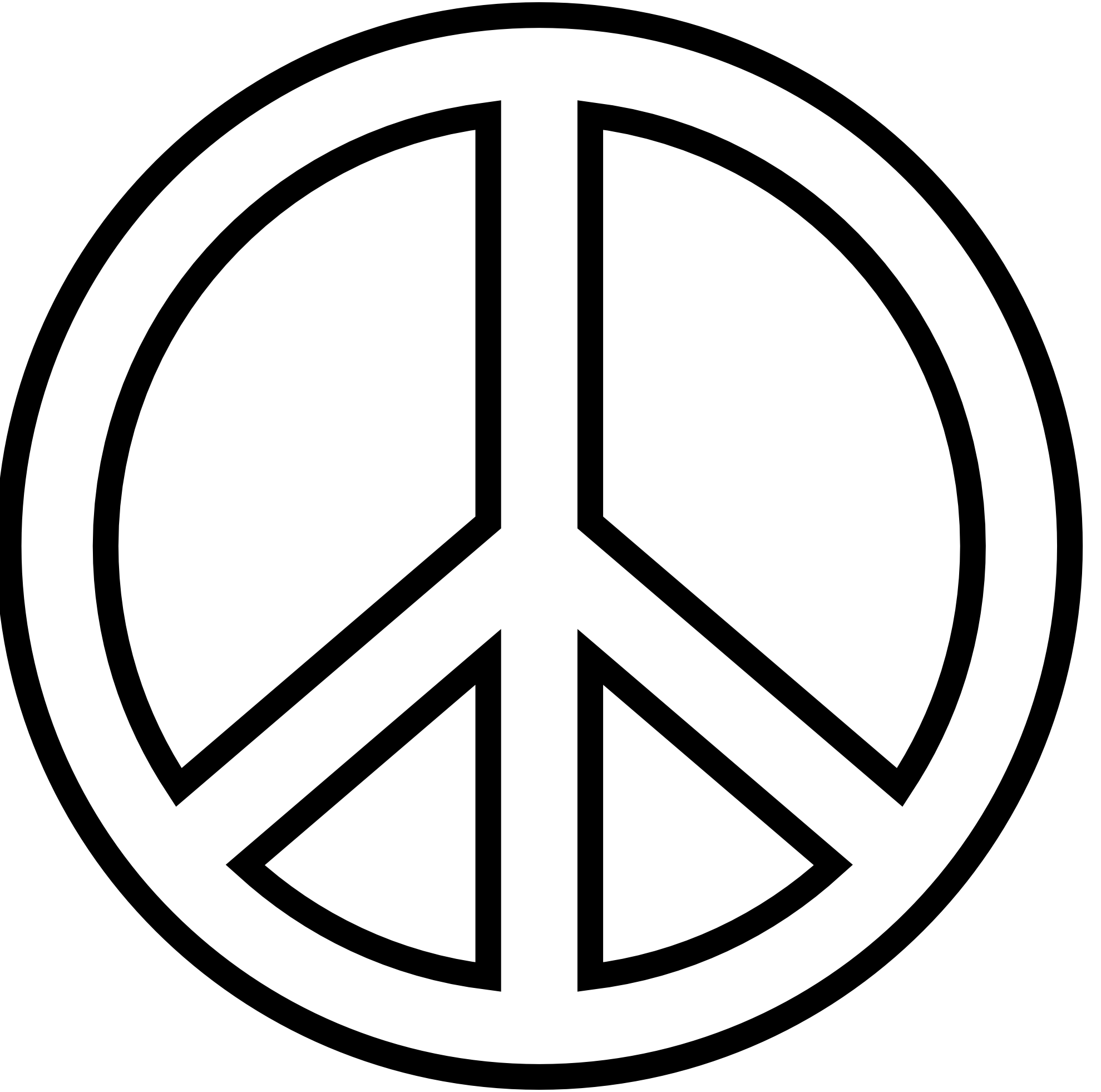 1979x1962 Clipart Peace Sign Love