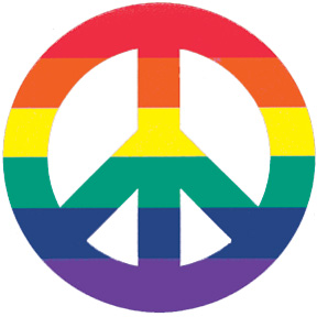 288x288 Peace Sign 2 Inch Magnet