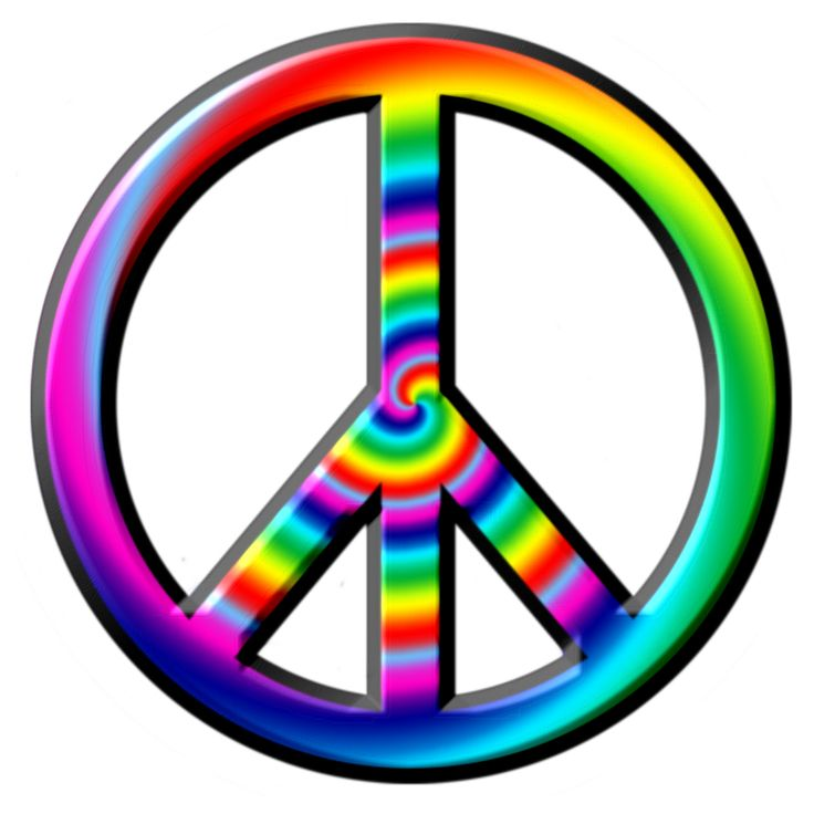 736x736 Peace Sign Clipart Psychedelic
