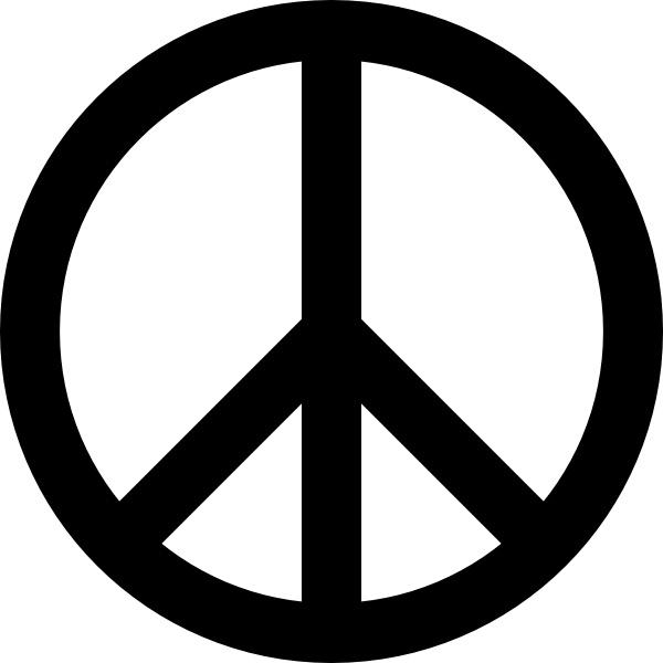 600x600 Peace Signs Clip Art Clipart