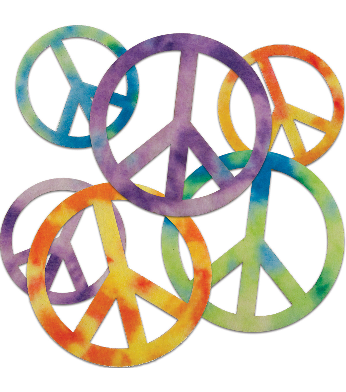 1200x1360 Stick It Felt Shapes 24pkg Peace Signs Joann