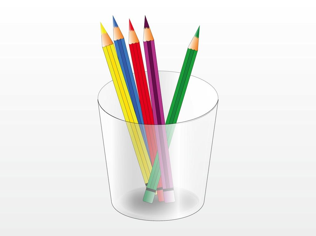 1024x765 Colored Pencils Clipart