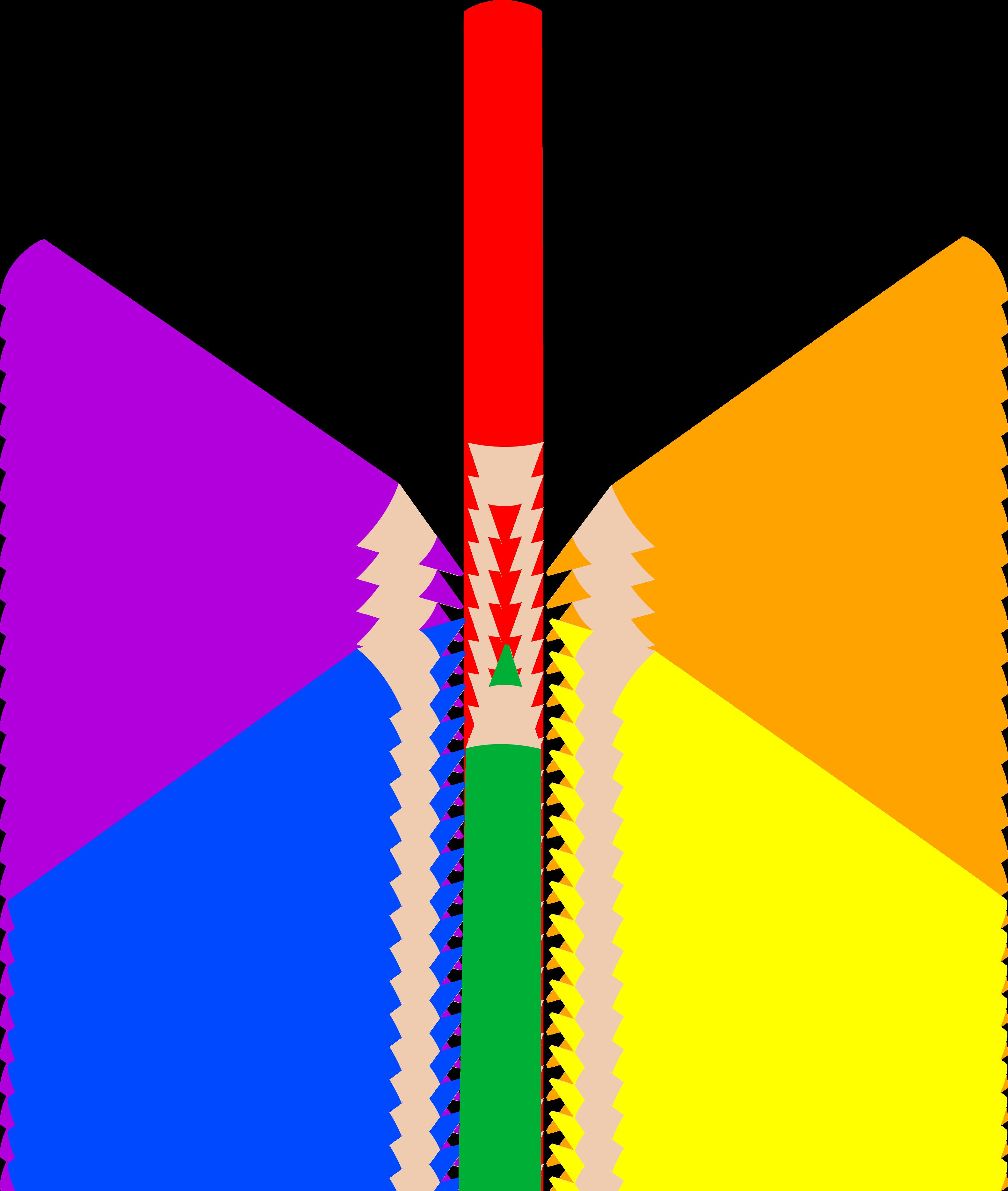 3163x3737 Colored Pencils Clipart