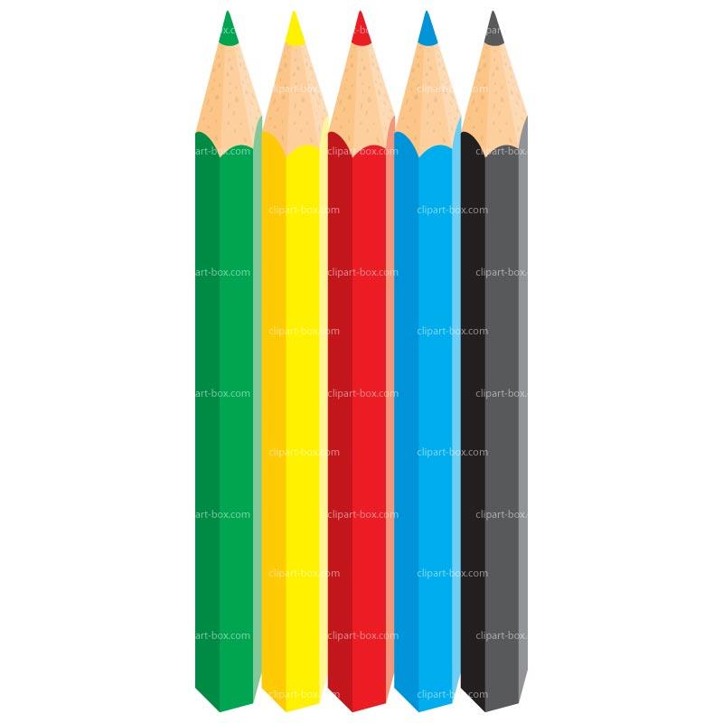 800x800 Colored Pencils Clipart Clipart Panda