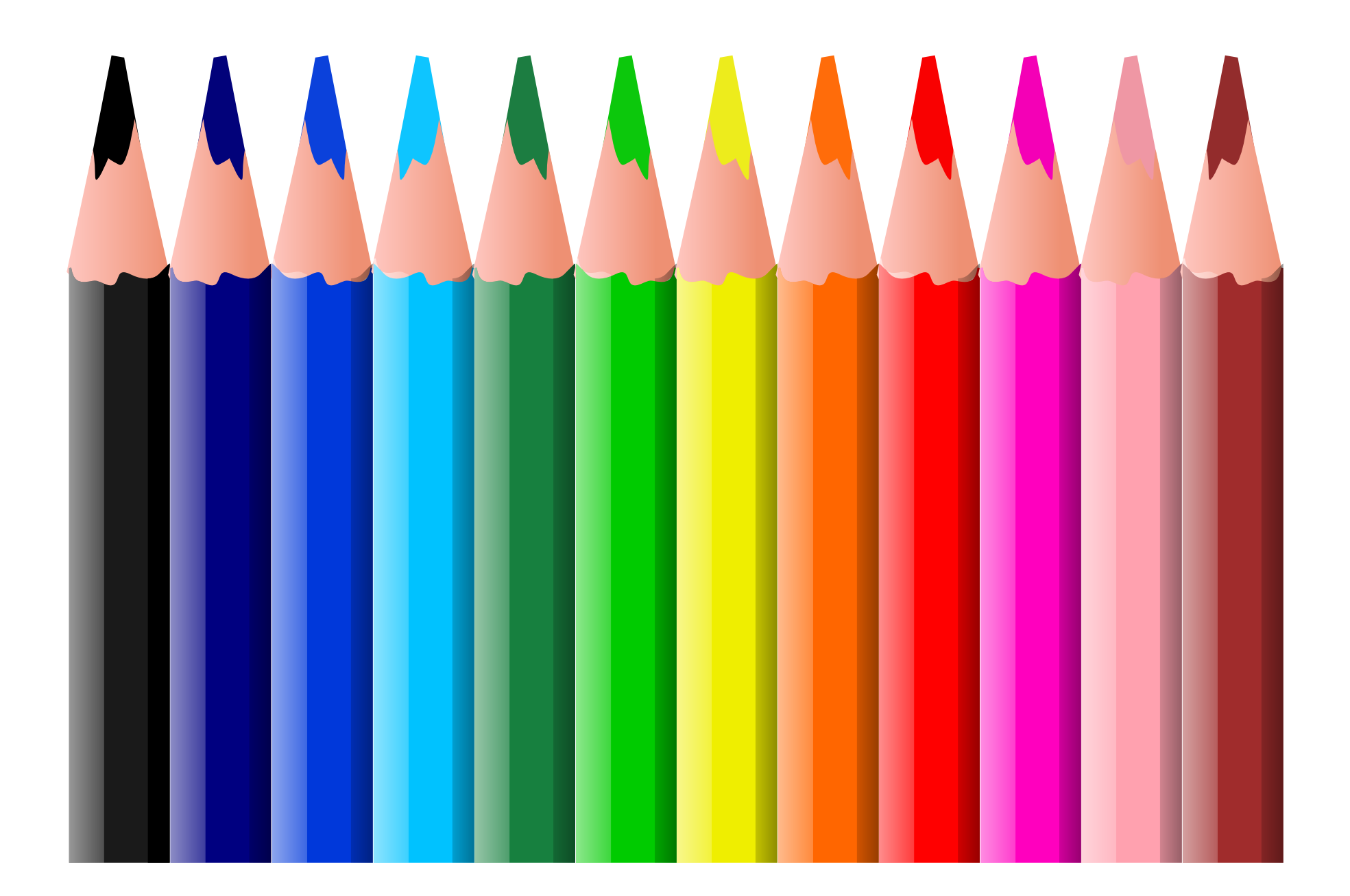 1969x1307 Colored Pencils Clipart Many Interesting Cliparts