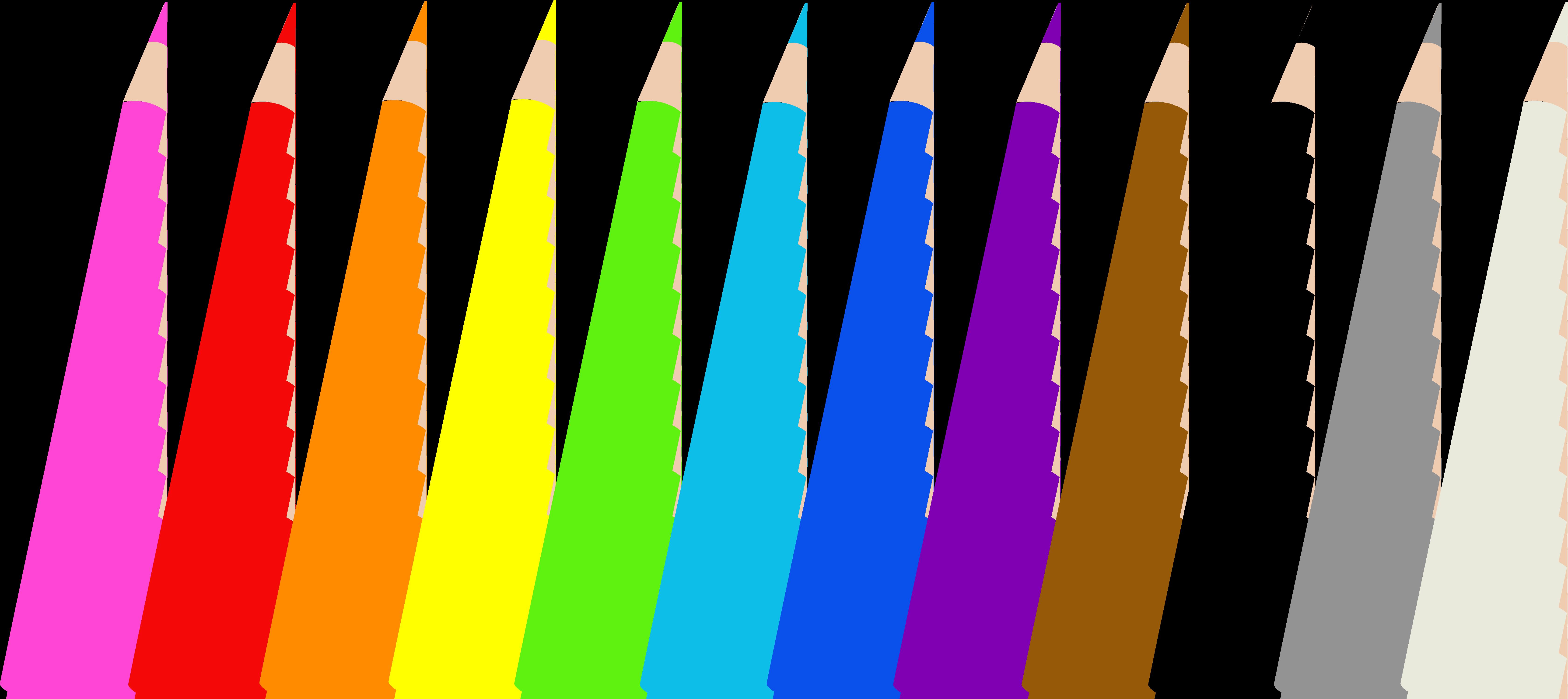 6720x2993 Colored Pencils Clipart