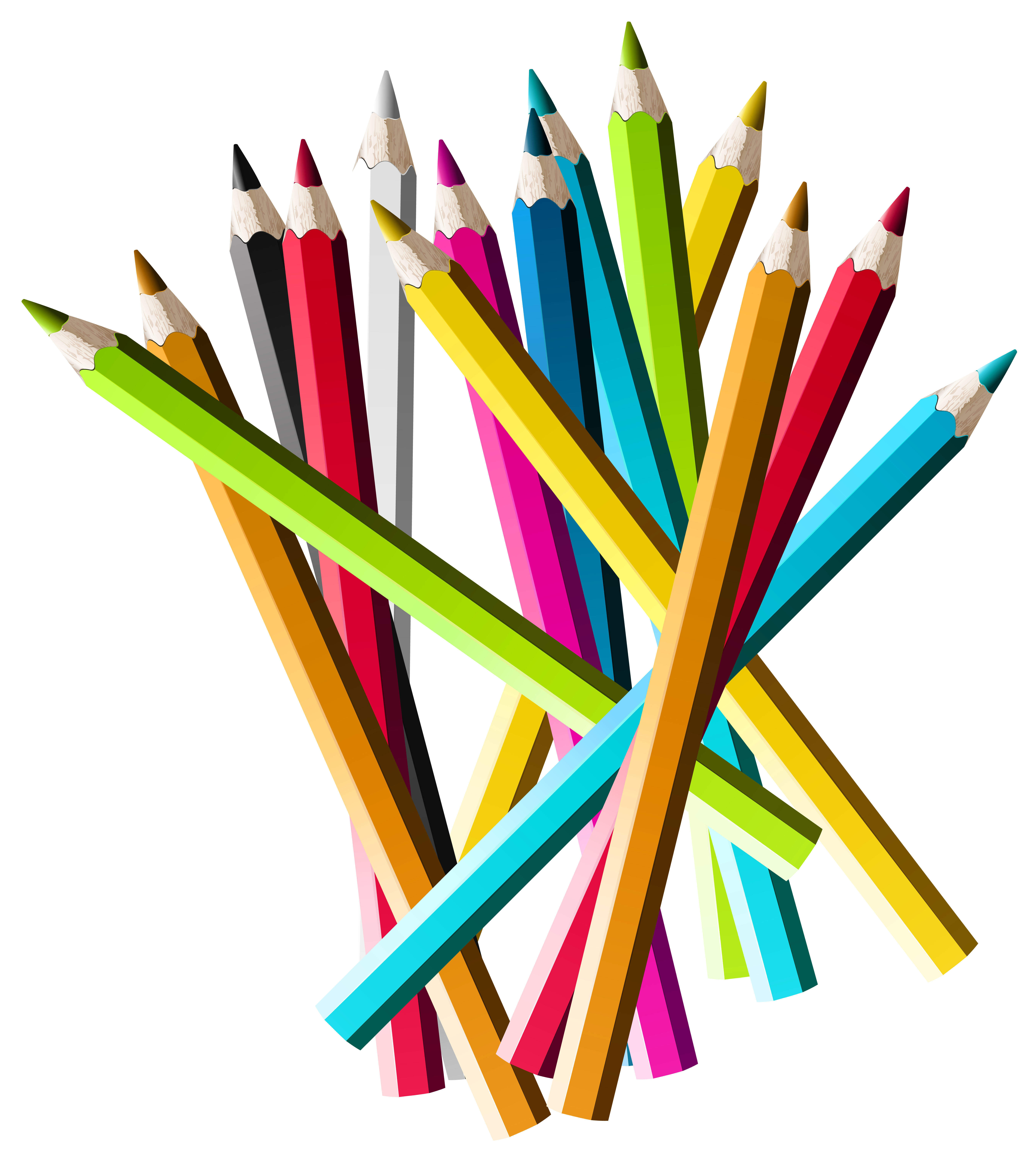 5579x6273 Colorful Pencils Png Clipart Pictureu200b Gallery Yopriceville