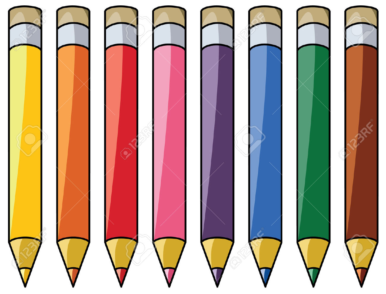 1300x990 Colourful Pencils Clipart Royalty Free Cliparts Vectors And Image