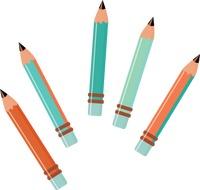 200x190 Pencil Clipart Five
