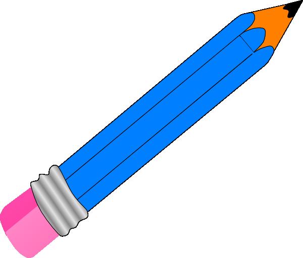 600x512 Blue Colored Pencil Set Of Pencils Clipart