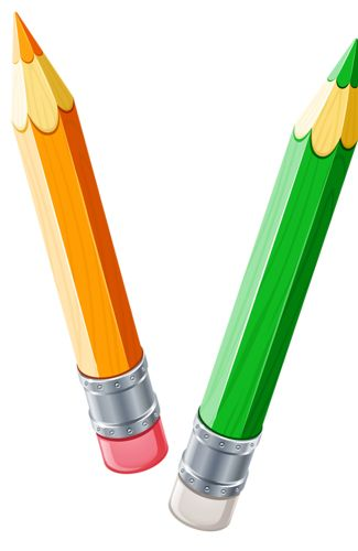 325x500 Two Pencils Clipart
