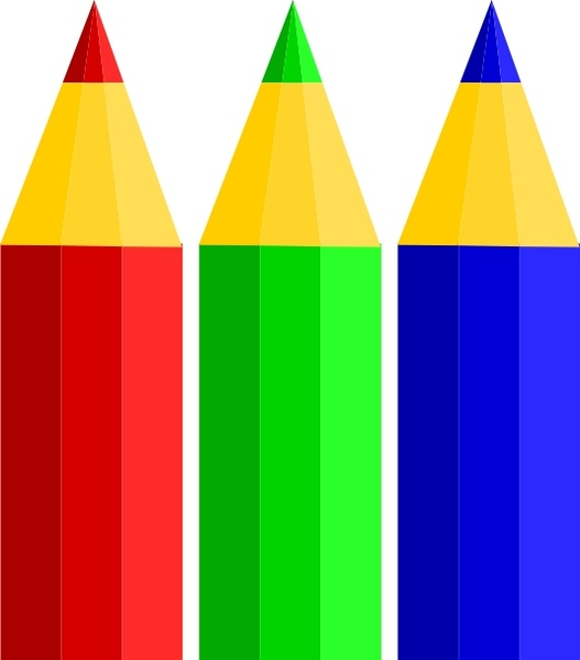 527x600 Color Pencils Clip Art Free Vector In Open Office Drawing Svg