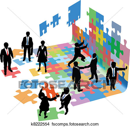 450x441 Clip Art Of People Work Together Technology Business Plan K6908667