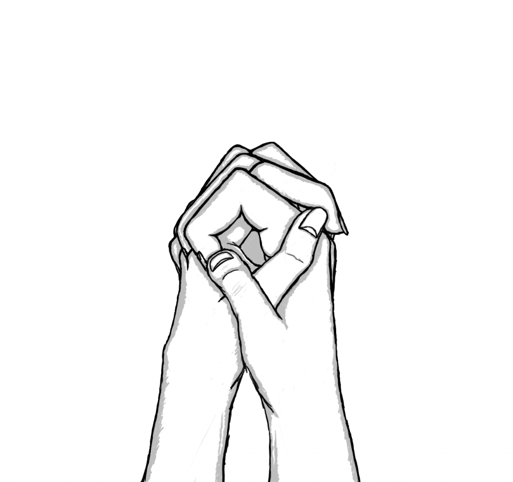 1024x961 how to draw 2 people holding hands how to draw a hugging couple