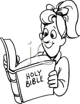 269x350 Drawings Of People Reading Girl Reading The Bible Clip Art