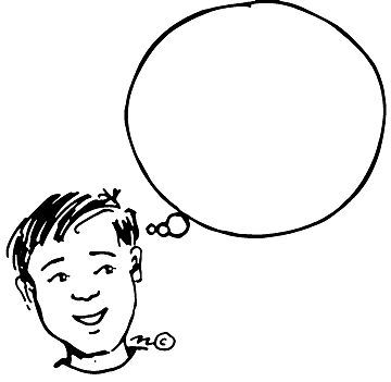 360x351 People Thinking Clipart Kid