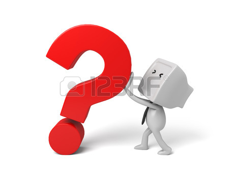 450x338 3d People Thinking With Some Question Marks. 3d Image. Isolated
