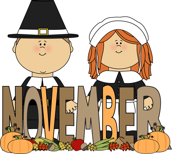 600x538 Month Of November Pilgrims Clip Art