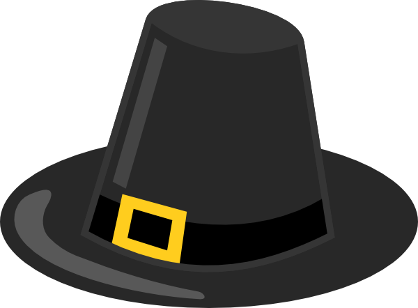 600x442 Pilgrim Hat With Black Band Clip Art