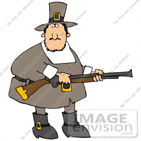 450x450 Cliprt Graphic Of Male Pilgrim Hunting For Turkey Birds