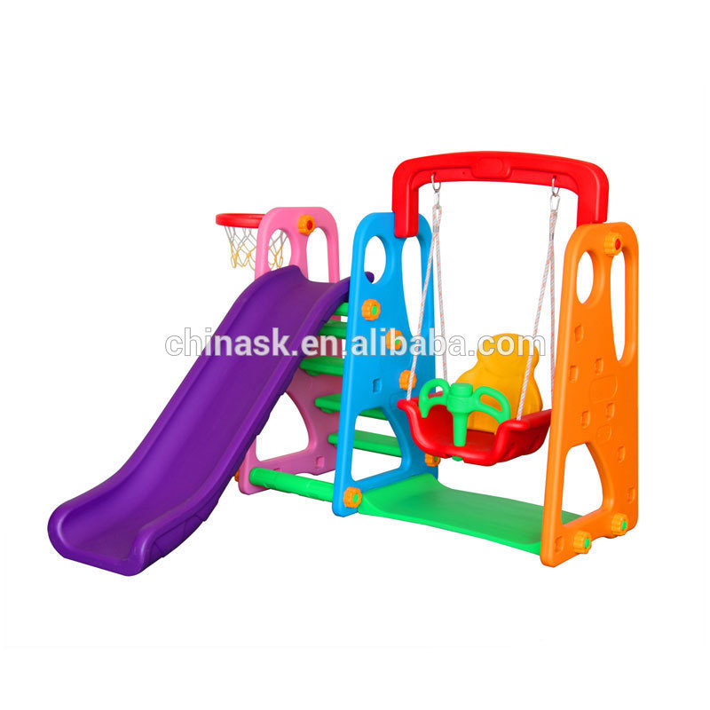 800x800 Amusement Preschool Children Plastic Swing And Slide Set Indoor