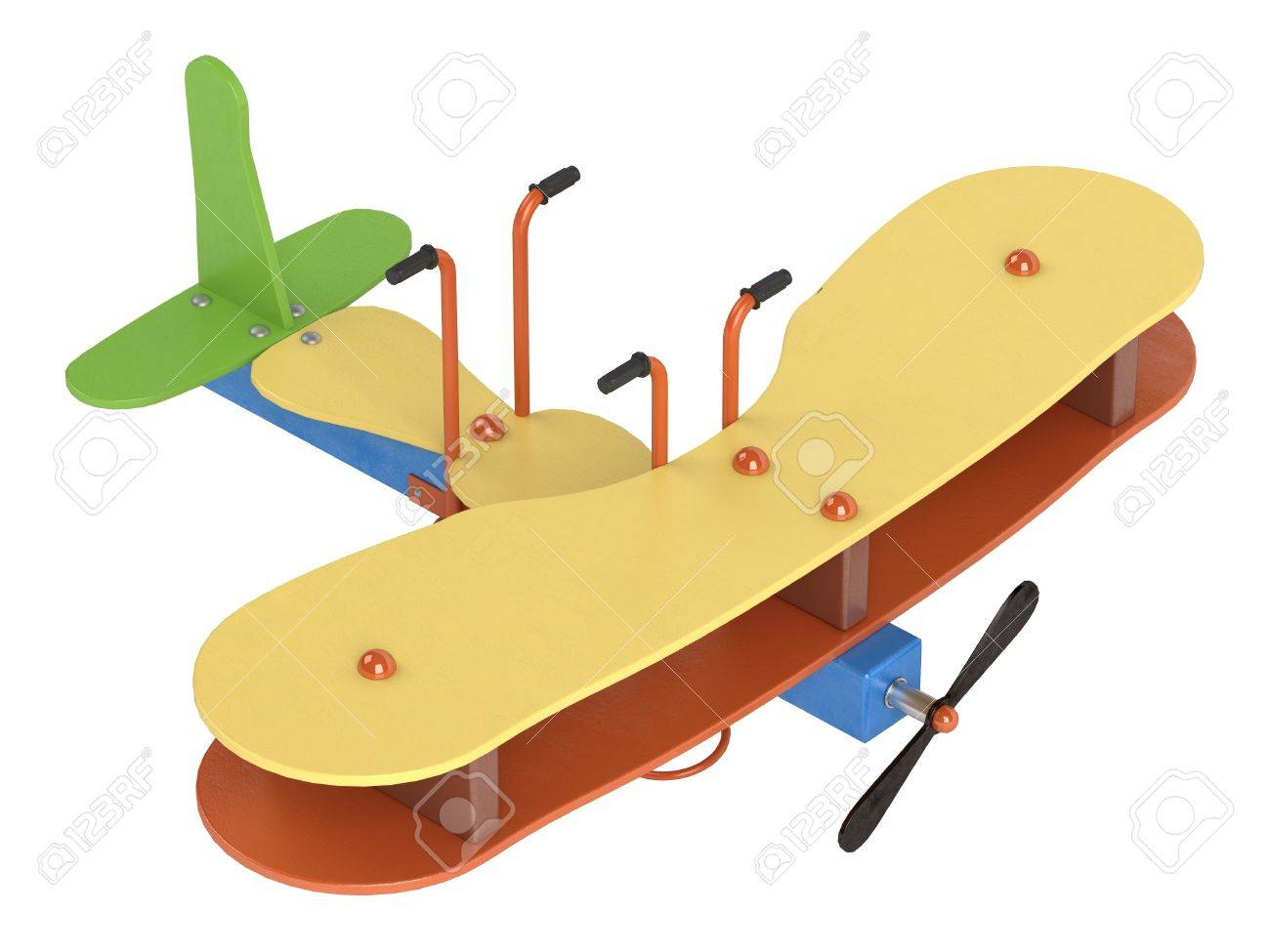1300x975 Bouncy Aeroplane Springs For Preschool Children To Ride