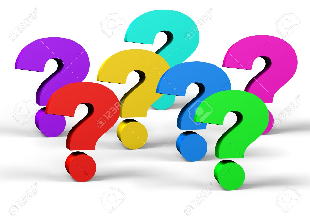 1300x925 Colorful Question Mark Symbol On A White Background Stock Photo