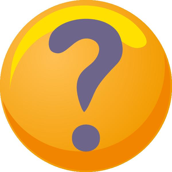 600x600 Question Mark Purple Yellow Clip Art