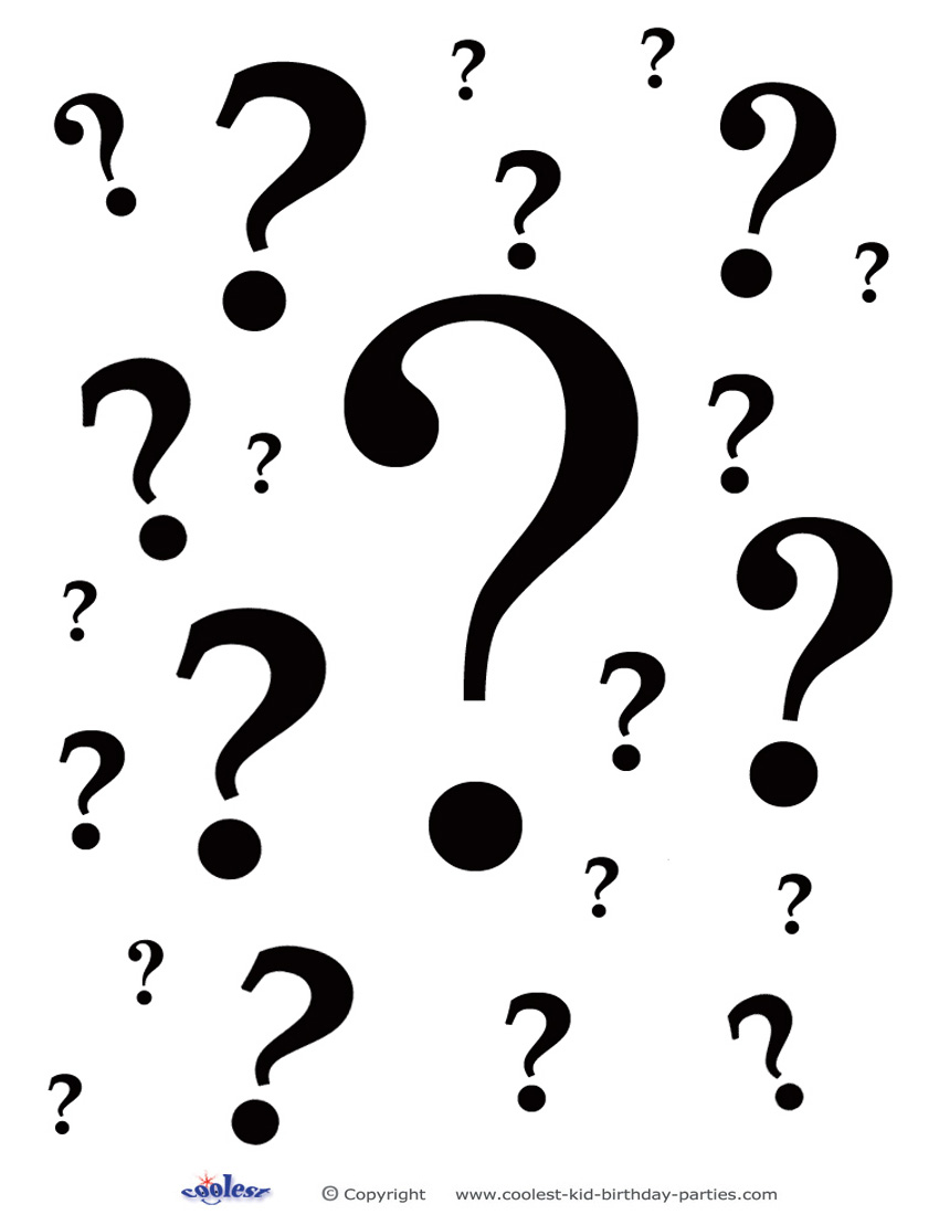 850x1100 Group Of Question Marks Clipart