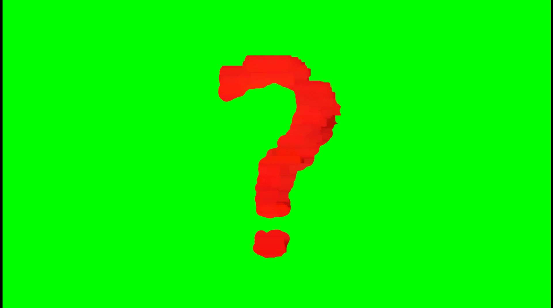 1920x1072 Free Animated Question Mark Green Screen Masters