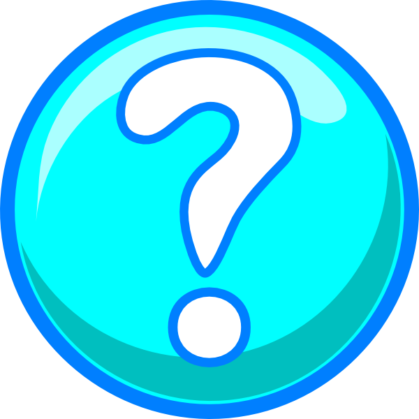 600x600 Blue Question Mark Circle Questions Clipart