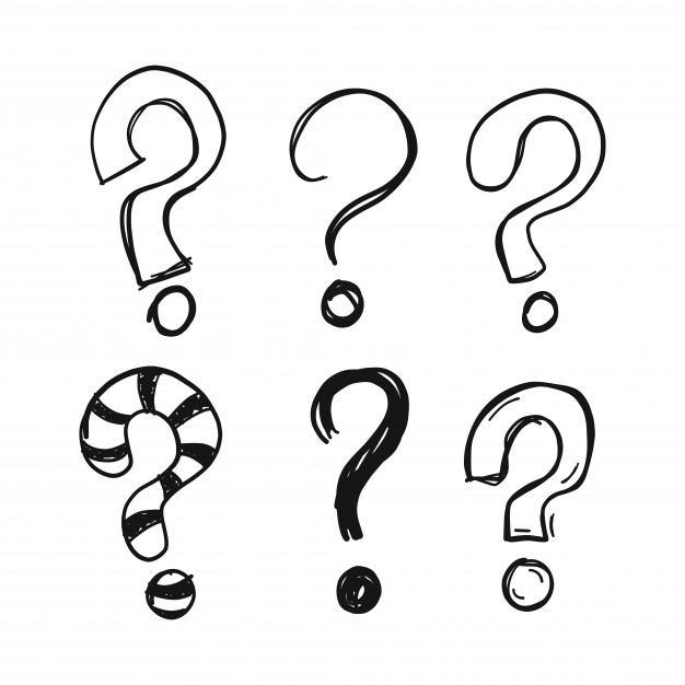 626x626 Doodle Question Marks Vector Free Download
