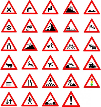 403x425 Traffic Street Road Signs Clip Art Free Vectors Ui Download
