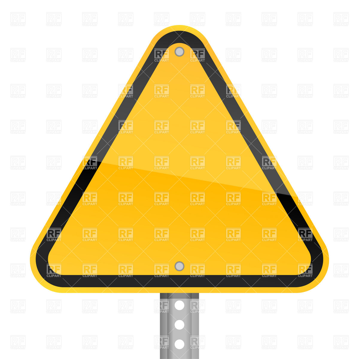 1200x1200 Triangle Yellow Blank Road Sign Royalty Free Vector Clip Art Image