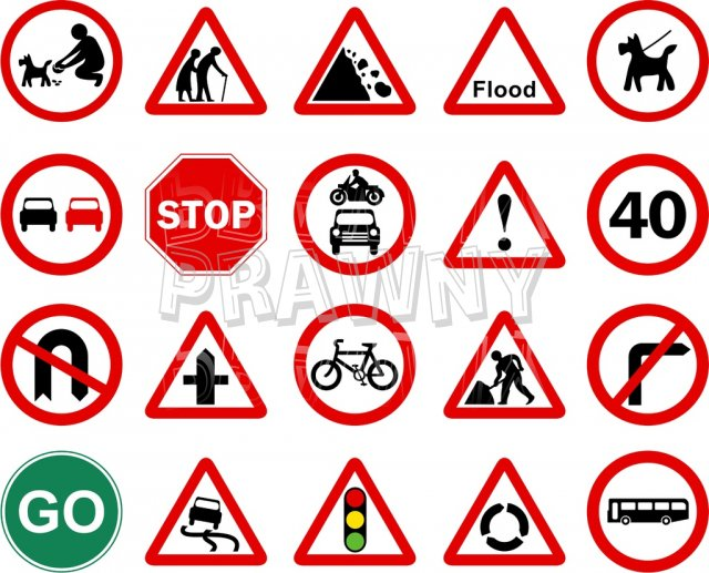 640x517 Clipart Uk Road Signs