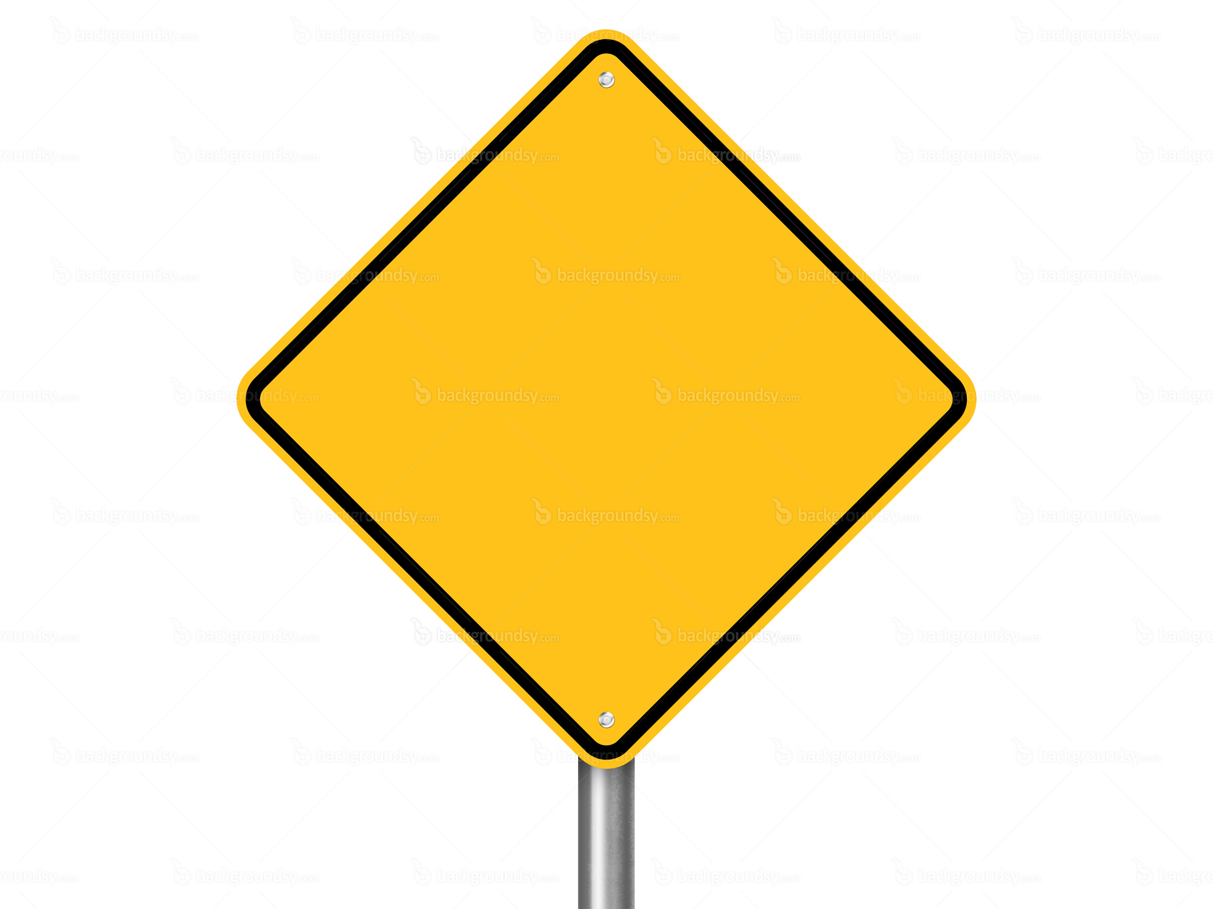 2400x1800 Blank Road Sign Clipart