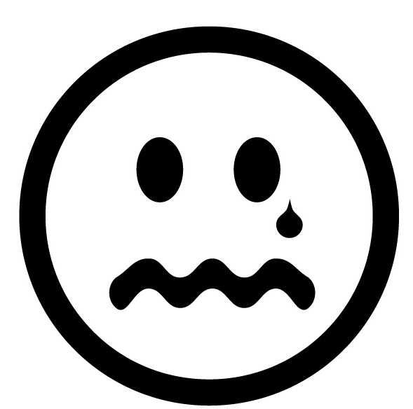 589x584 Sad Face Clip Art Black And White Clipart Panda