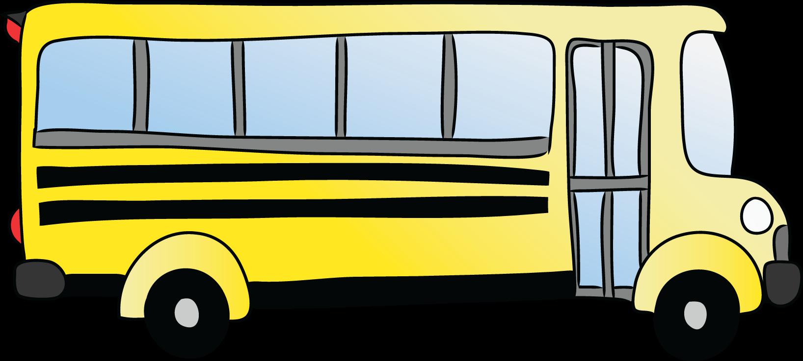 1636x737 Cartoon School Bus Clipart