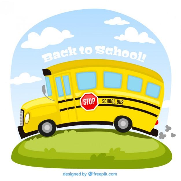 626x626 School Bus Illustration Vector Free Download