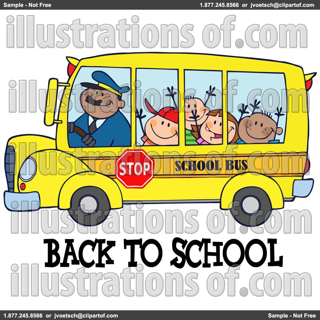 1024x1024 School Bus Superman Clipart