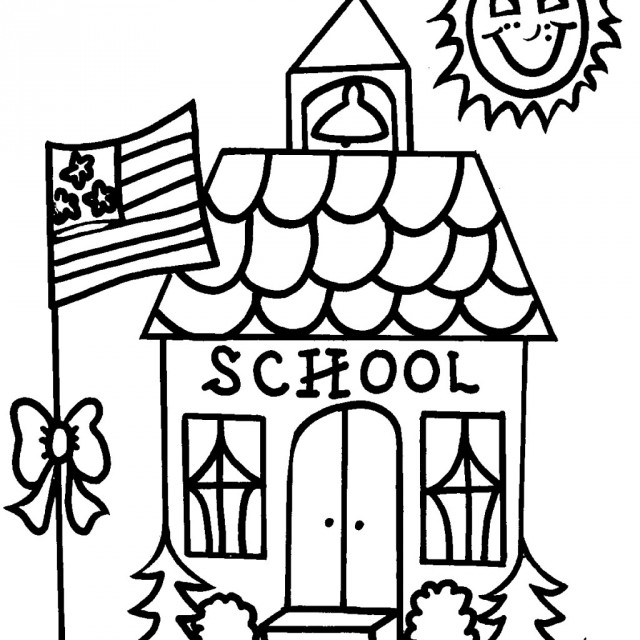 640x640 Coloring Pages Of School Houses Murderthestout