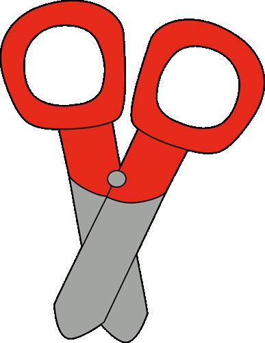 387x500 Red Scissors Clip Art